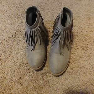 Fringed booties